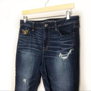 American Eagle Outfitters Jeans - AEO- High Rise Jegging Super stretch Distressed